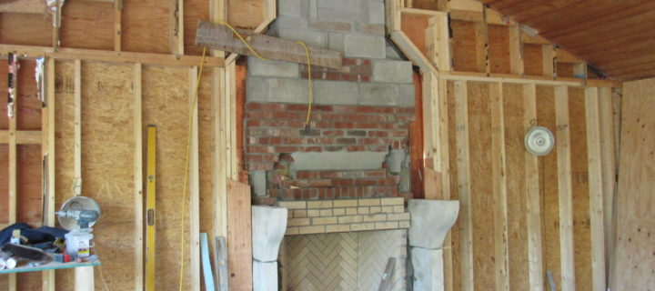 New Custom Antique French Fireplace & Custom Chimney