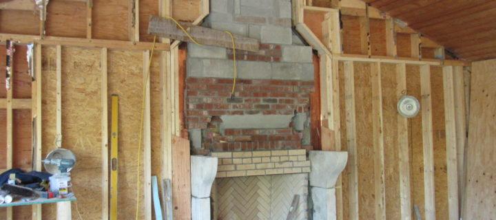 New Custom Antique French Fireplace & Custom Chimney